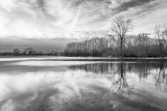 Wolken in de spiegel