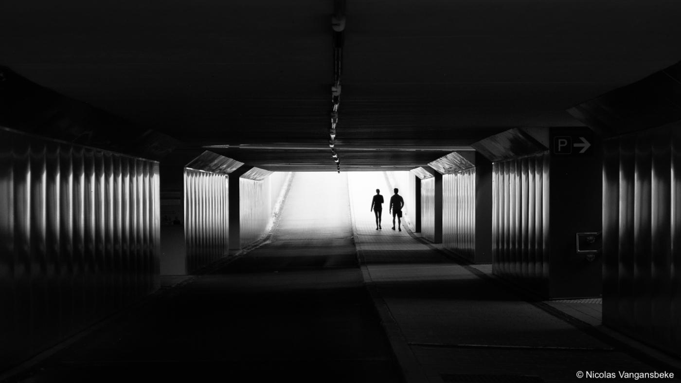 Tunnel onder Drongen station